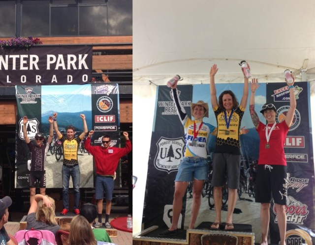 Kelly Magelky and Tammy Sadle, 2013 Winter Park Series Champs