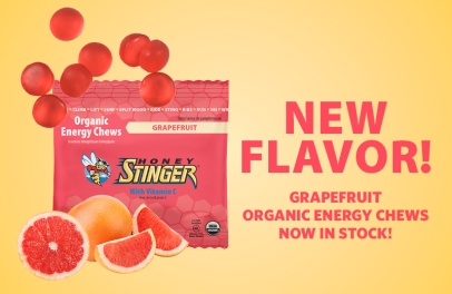 Honey Stinger grapefruit chews